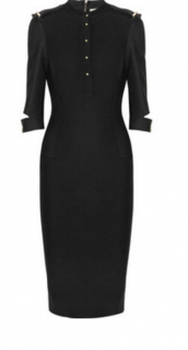 Victoria Beckham military black dress size