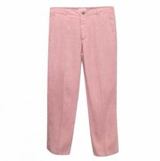 Euro Men's Pink Cotton Trousers