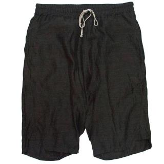 Rick Owens dark grey shorts