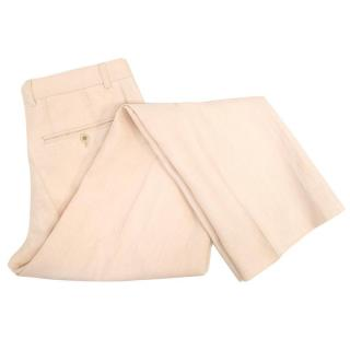 Dries Van Noten light peach trousers