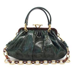 Marc Jacobs green leather handbag