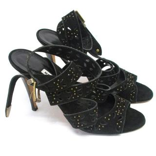 Manolo Blahnik black heeled sandals