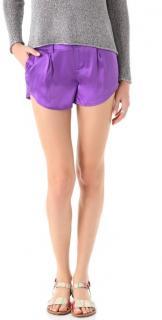 Alice+Olivia Butterfly silk shorts