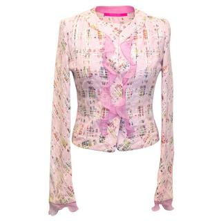 Emanuel Ungaro Pink tweed jacket