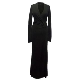 Amanda Wakeley black deep cleavage dress