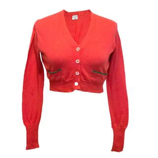 Paul Smith red cropped cardigan