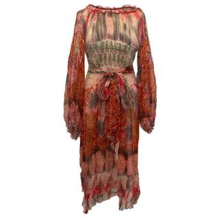 Chine Collection silk pattern dress