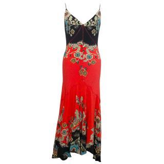 Roberto Cavalli floral pattern maxi dress