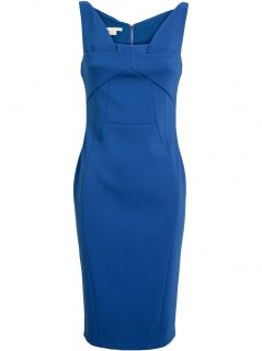 ANTONIO BERARDI BLUE PANELLED PENCIL DRESS