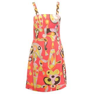 Emilio Pucci orange pattern dress