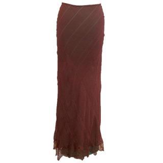 Rosae Nichols rust silk skirt