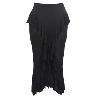 Yves Saint Laurent black silk skirt