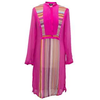 Etro pink silk dress