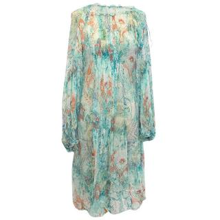 Chine Collection blue patterned dress