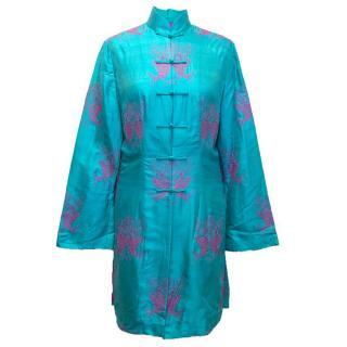 Shanghai Tang blue kimono jacket