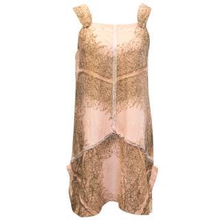 Miu Miu pale pink pattern dress