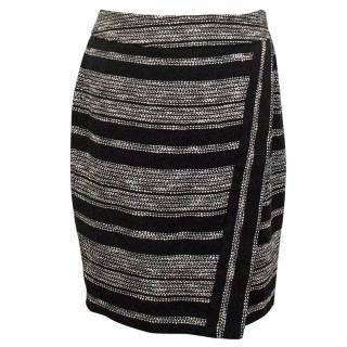 L'Agence black and white skirt