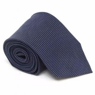 Ermenegildo Zegna Blue Tie with White Dot Print