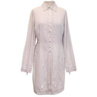 Two ten ten five grey striped shirt dress