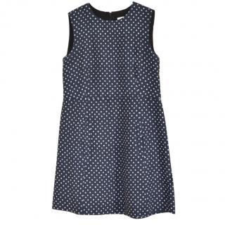 Chloe Navy Polka Dot dress