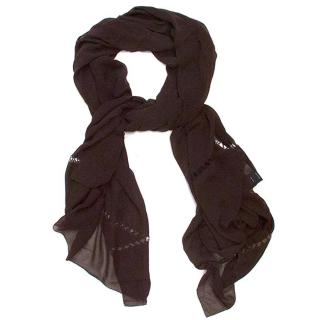 Amanda Wakeley brown silk scarf