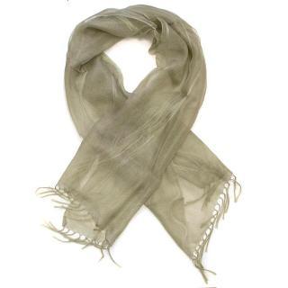 Donna Karan green shawl