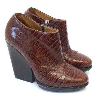 Dries van Noten brown booties