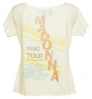 NEW Junk Food Madonna Blond Ambition 1990 Tour T Shirt