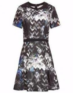Sandro geometric print dress