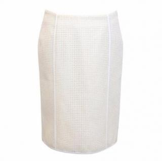 Pringle Off-White Straight Punched Skirt