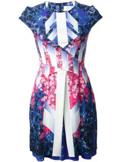 Peter Pilotto graphic print silk dress