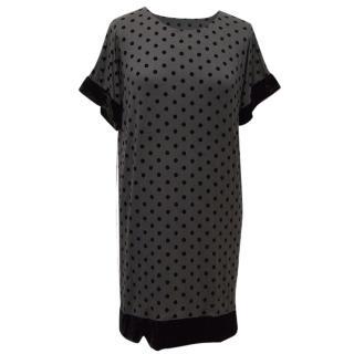 Anna Studio Grey and Black Polka Dot Dress