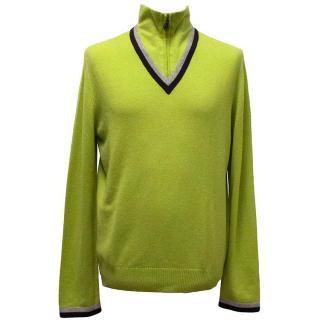 Hermes light green jumper