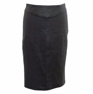 Joseph Black Leather Pencil Skirt