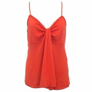 Donna Karan Red Vest Top