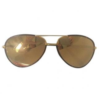 Linda Farrow Aviators