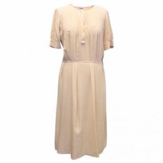 Chloe Nude Silk Dress