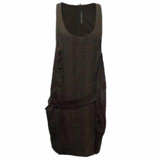 Balenciaga Dark Brown Silk Mini Dress