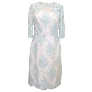 Erdem Baby Blue Lace Dress