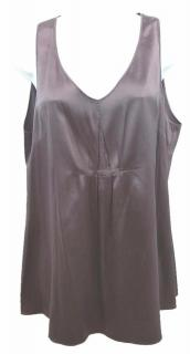BRUNELLO CUCINELLI FOR BERGDORF GOODMAN Purple Silk Top