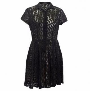 BCBG Black Short-sleeved Shirt Dress