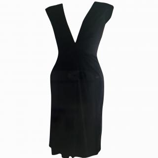Issa Dress plunge neckline black dress