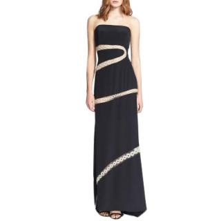 Pucci embroidered silk strapless gown