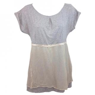 BRUNELLO CUCINELLI Silk Overlay Top
