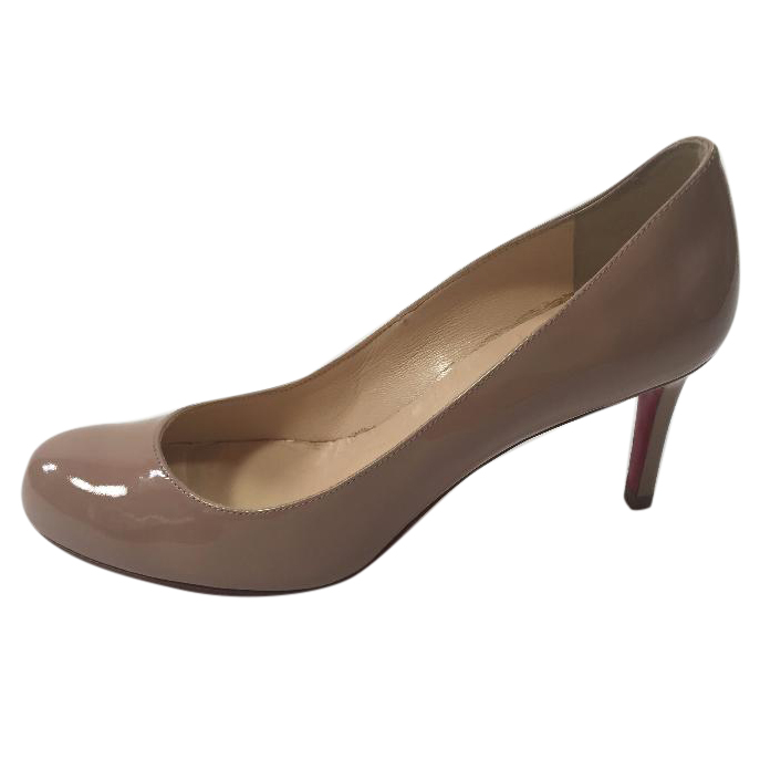 los angeles b2dc2 96bd3 Christian Louboutin Simple Pump in Nude Patent Leather