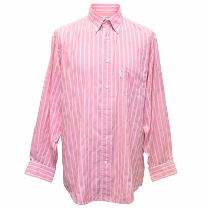 Faconnable Pink Shirt with White Stripes