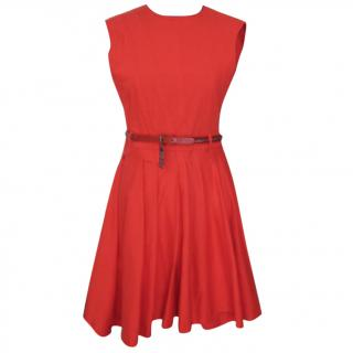 Preen Line red cotton dress