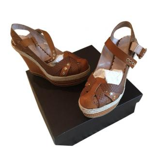 Mulberry Tan Wedges never worn
