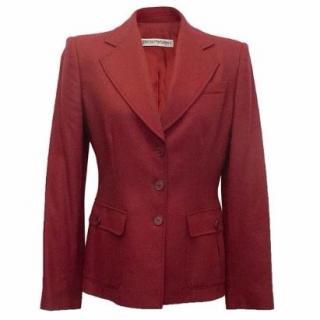 Emporio Armani Red Wool and Cashmere Blazer