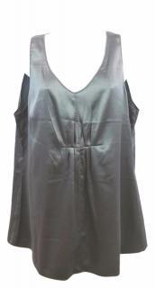 Brunello Cucinelli Grey Sleeveless Top